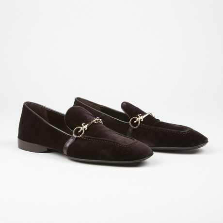 Velvet Buckle Loafer // Brown (US: 7)