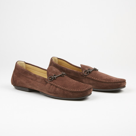 Suede Buckle Driver // Brown (US: 6)