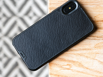 Photo of Mous Airo Shock iPhone Cases Black Leather (iPhone X) by Touch Of Modern