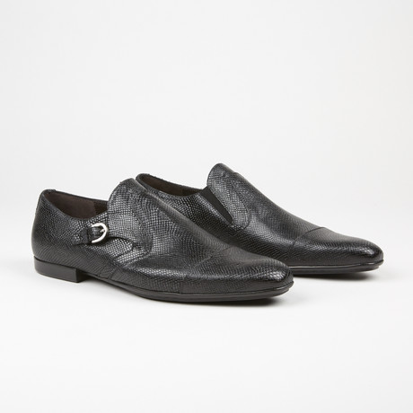 Iguana Monk Strap Loafer // Black (US: 6.5)