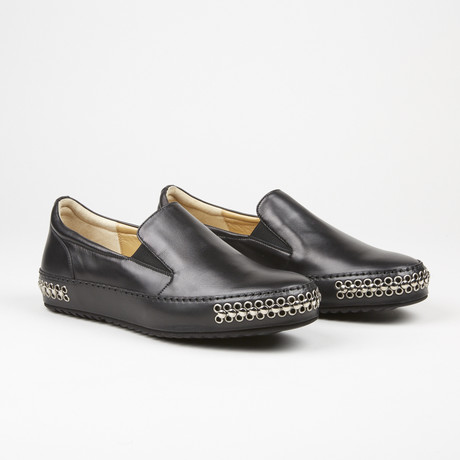 Stud Loafer // Black (US: 6.5)