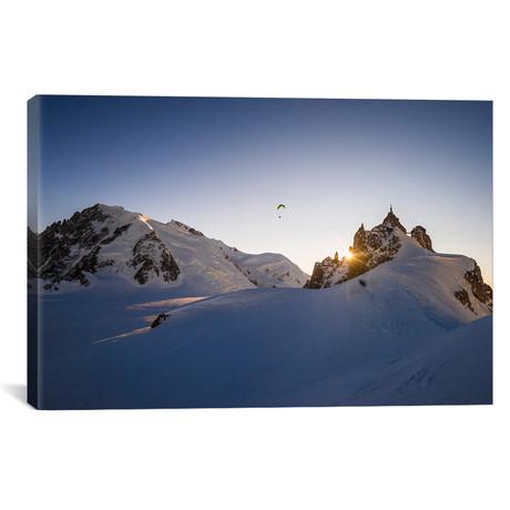 """Sunset Flight III, Midi-Plan Ridge, Chamonix // Alex Buisse (18""""W x 26""""H x 0.75""""D)"""