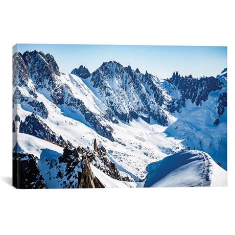 """Mountain Paragliding I // Alex Buisse (18""""W x 26""""H x 0.75""""D)"""