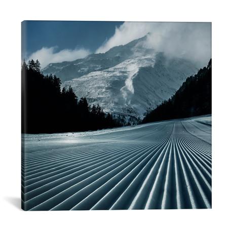 """Ski Tracks // Adrian Borda (18""""W x 18""""H x 0.75""""D)"""