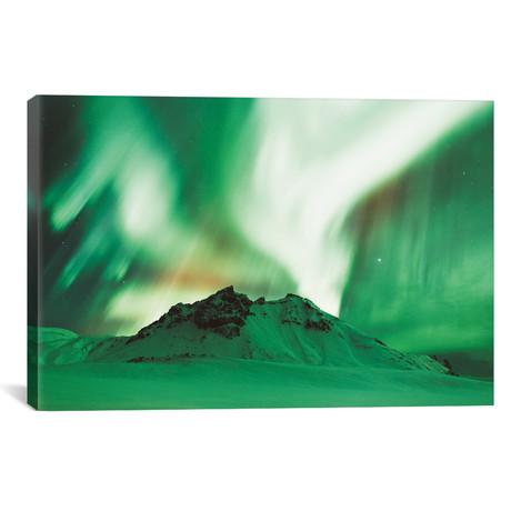 "Lights In Iceland // Christopher Kerksieck (26""W x 18""H x 0.75""D)"
