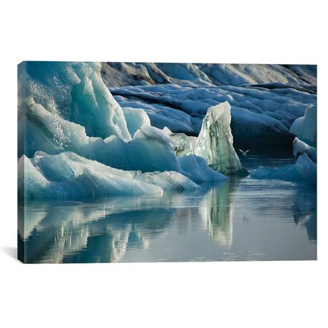 "Natural Ice Sculptures, Jokulsarlon Glacier Lake // Gareth McCormack (26""W x 18""H x 0.75""D)"