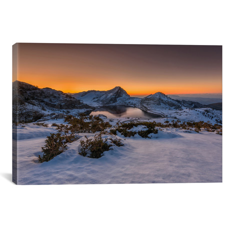 "Europe Peaks // Sergio Lanza (26""W x 18""H x 0.75""D)"