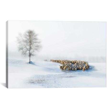 """In Snow // Hua Zhu (26""""W x 18""""H x 0.75""""D)"""