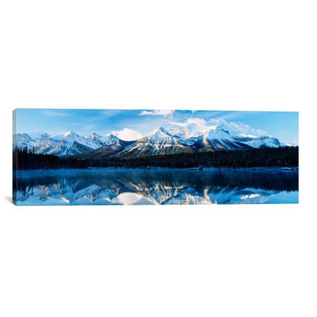 "Herbert Lake, Banff National Park, Alberta, Canada (36""W x 12""H x 0.75""D)"