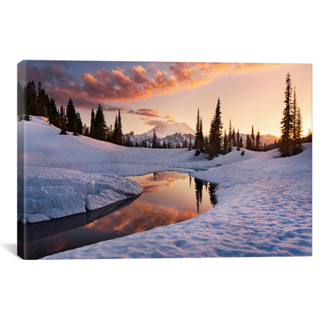 "America The Beautiful // Mount Rainier (26""W x 18""H x 0.75""D)"