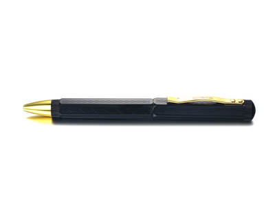 Photo of Octavius Pens Upscale Writing Tools Black Onyx + Yellow Gold Rollerball Pen by Touch Of Modern
