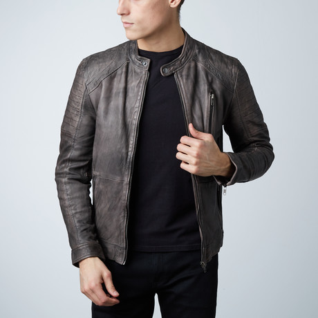 Leather Jacket // Black Wash (S)