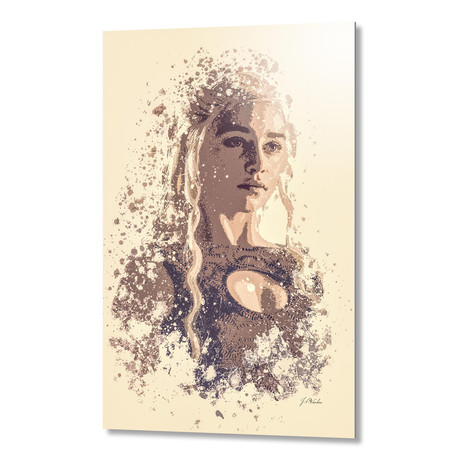 "Emilia Clarke, Game Of Thrones // Aluminum (16""L x 24""H x 1.5""D)"