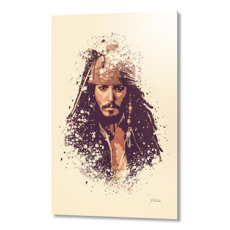 "Pirates of the Caribbean, Jack Sparrow // Aluminum (16""L x 24""H x 1.5""D)"