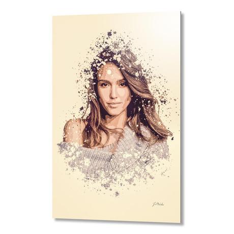 """Jessica Alba // Aluminum (16""""L x 24""""H x 1.5""""D)"""