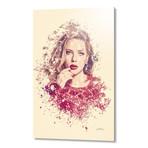 "Scarlett Johansson // Aluminum (16""L x 24""H x 1.5""D)"