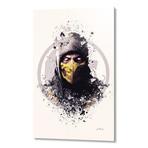 "Mortal Kombat, Scorpion // Aluminum (16""L x 24""H x 1.5""D)"