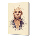 "Vin Diesel // Stretched Canvas (16""L x 24""H x 1.5""D)"