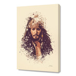 """Pirates of the Caribbean, Jack Sparrow // Stretched Canvas (16""""L x 24""""H x 1.5""""D)"""