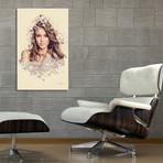 "Jessica Alba // Stretched Canvas (16""L x 24""H x 1.5""D)"