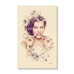 "Milla Jovovich // Stretched Canvas (16""L x 24""H x 1.5""D)"