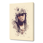 "50 Cent // Stretched Canvas (16""L x 24""H x 1.5""D)"