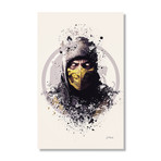 "Mortal Kombat, Scorpion // Stretched Canvas (16""L x 24""H x 1.5""D)"