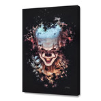 "Pennywise Clown // Stretched Canvas (16""L x 24""H x 1.5""D)"