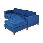 Jane Loft Bi-Sectional // Wood Base (Stockholm Cobalt)