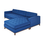 Jane Bi-Sectional // Wood Base (Stockholm Cobalt)