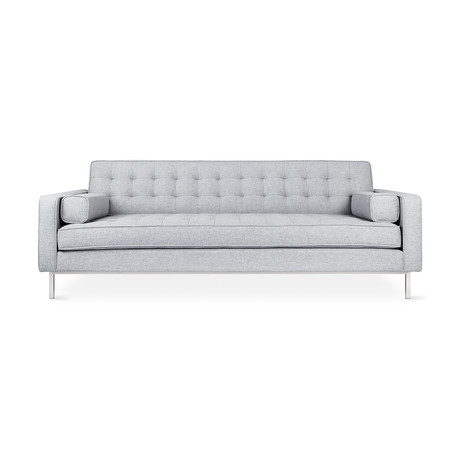 Spencer Sofa // Stainless Steel Base (Parliament Moss)