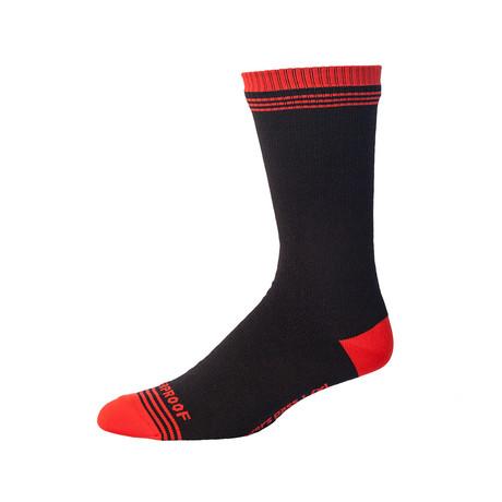 Crosspoint Waterproof Crew Sock // Chili Pepper Red (Small/Medium)