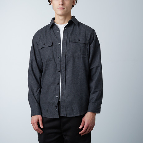 Woven Solid Flannel // Charcoal (S)