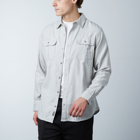 Woven Solid Flannel // Stone (S)