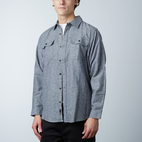 Woven Solid Flannel // Heather Grey (S)