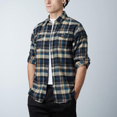 Woven Plaid Flannel // Khaki (S)