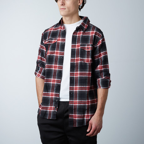 Woven Plaid Flannel // Red (S)
