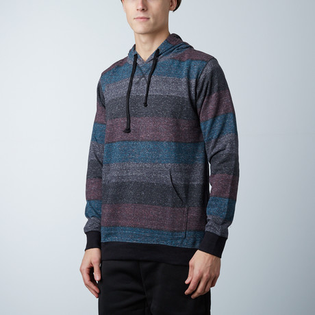 Printed Striped Marl Pullover // Red + Black (S)