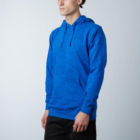 Injected Yarn Dyed Fleece Hoodie // Blue (S)