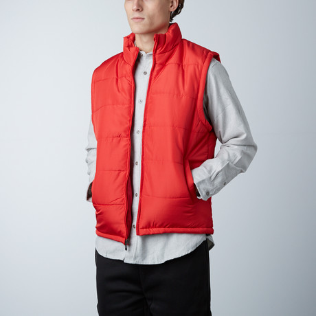 Puffer Vest // Red (S)