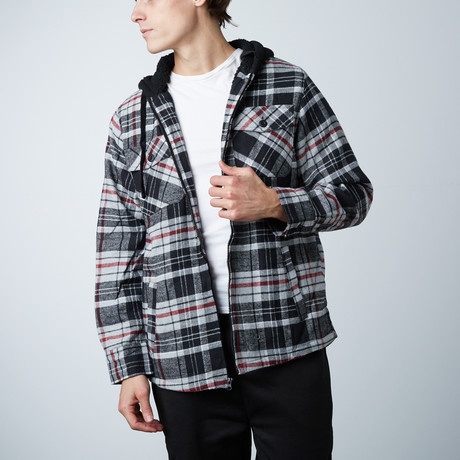 Flannel Jacket W/ Sherpa Lining // Charcoal (S)