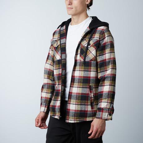 Flannel Jacket W/ Sherpa Lining // Khaki (S)