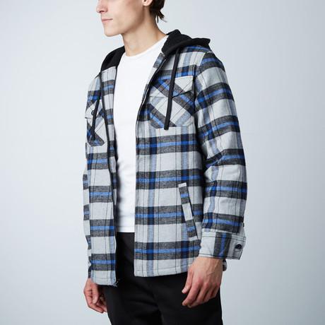 Flannel Jacket W/ Sherpa Lining // Grey (S)