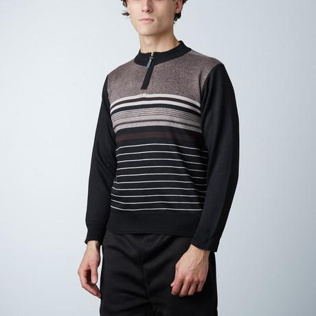 1/4 Zip Sweater // Brown (S)