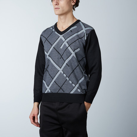V-Neck Sweater // Grey (S)