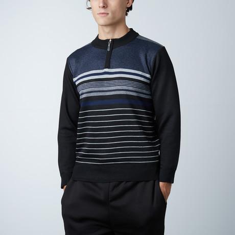 1/4 Zip Sweater // Navy (S)