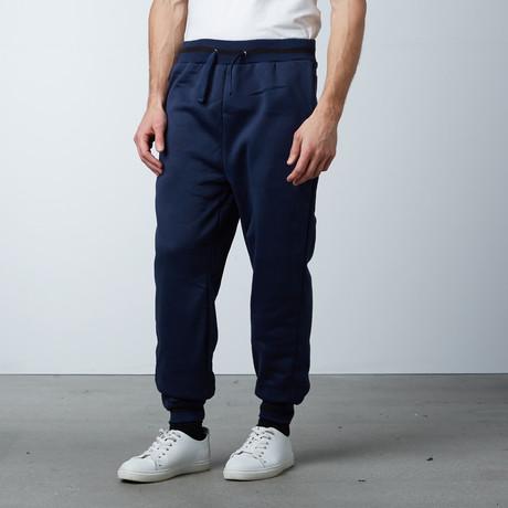 Fleece Jogger Varsity Pant // Navy (S)