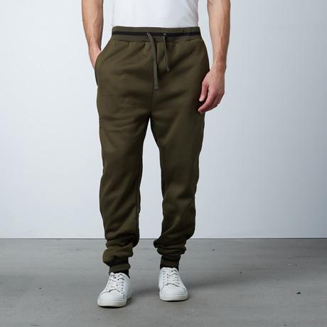 Fleece Jogger Varisty Pant // Olive (S)