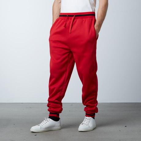 Fleece Jogger Varsity Pant // Red (S)