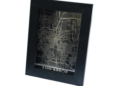 Photo of Cut Maps Stainless Steel Cities Ann Arbor by Touch Of Modern